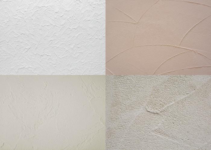 塗り壁の種類イメージ